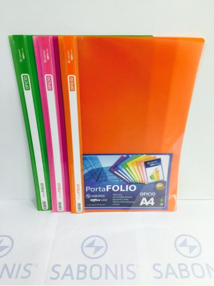 Carpeta Tapa Transparente OF x12