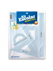 Kit de Geometría ideal para uso escolar (SE VENDE X BLISTER)