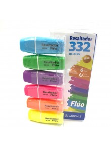 Resaltador Mini Fluo x6 Blister